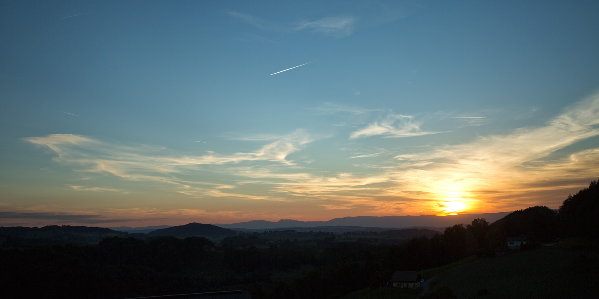 Sonnenuntergang im freiburger Oberland