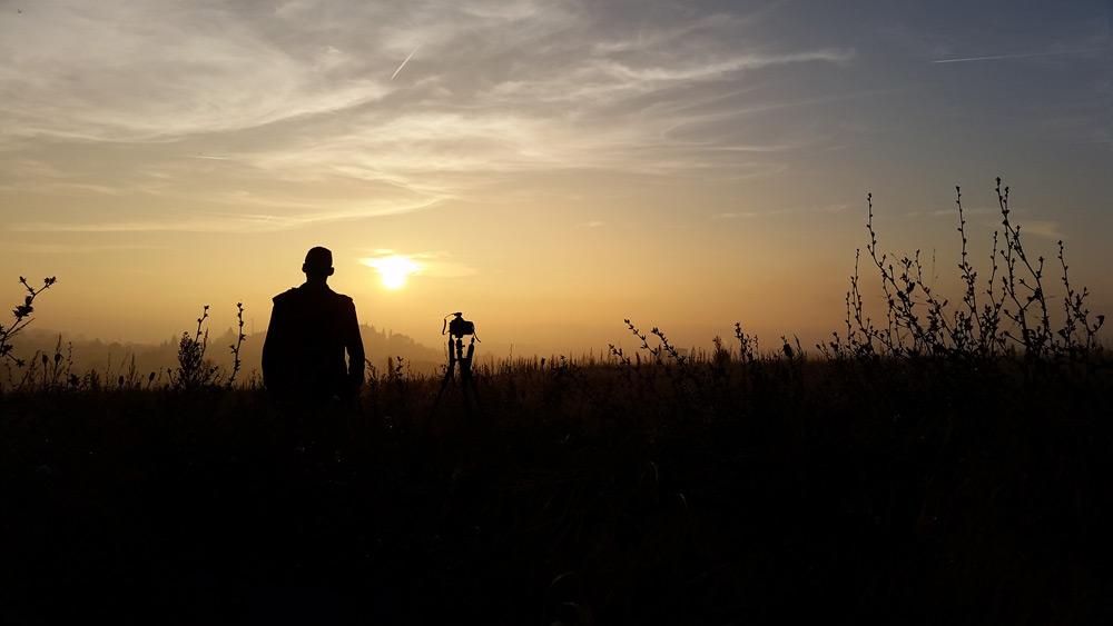 In einem Feld nahe Avenches am fotografieren