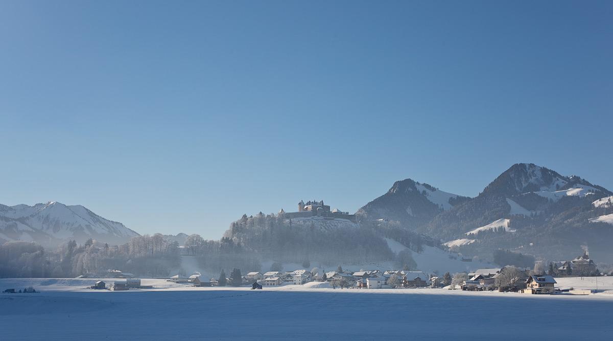 Schloss Greyerz im Winter