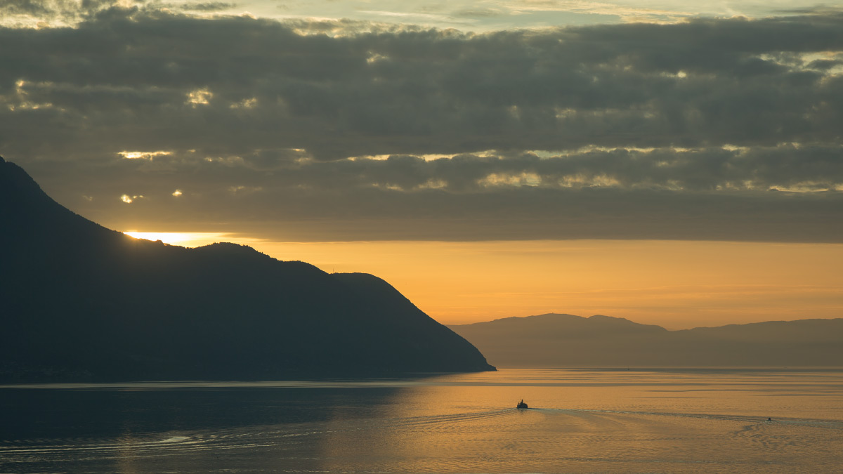 Sonnenuntergang am Genfersee