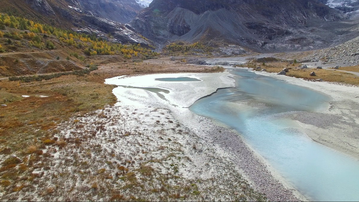 Schwemmebene vor dem Mont Miné